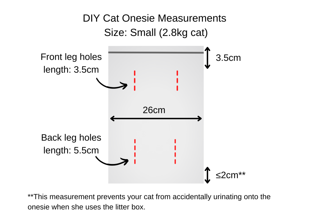 how to diy cat recovery suit measurements